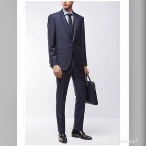 NWT Hugo Boss Navy Drago Super 120 Suit HB1